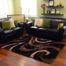 Chocolate Brown Area Rugs Donnie Shaggy Abstract Wavy Swirl Chocolate Area Rug 5 X 7