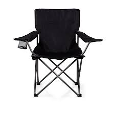 Black And White Striped Chair by Amazon Com Picnic Time U0027ptz U0027 Portable Folding Camp Chair Black