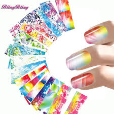 best 1x nail stickers beauty chinese peony full wraps decals of