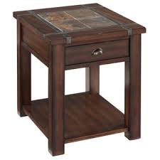rustic wedge end table rustic oak end table free shipping today on hopewood mission wedge