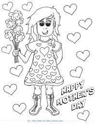 mother coloring pages with flowers mother u0027s day coloring page free printable