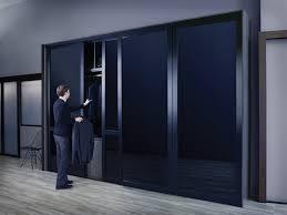 modern sliding glass door sleek sliding glass door with black glass and black frame finish