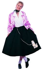 50s Halloween Costumes Poodle Skirts Poodle Skirt 50 U0027s Pink Lady Costume Size Poodle Skirt