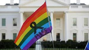 Rainbow Us Flag In Pictures Say U0027no U0027 To U0027yes U0027 To Gun Laws United States