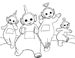 teletubbies dancing coloring kids