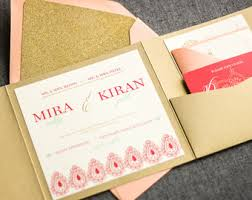 modern indian wedding invitations hindu wedding invite etsy