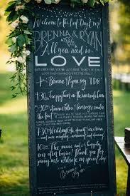 Chalkboard Wedding Program Brenna Ryan U2014 Bridal Bliss