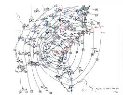 Barometric Pressure Map Superstorm Of 1993