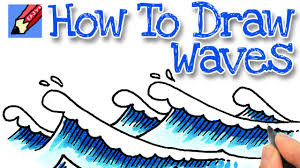 how to draw waves real easy youtube