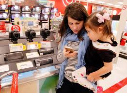 target shopping lady black friday mobile deals aimed at black friday shoppers stuck in line the