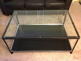 glass top display coffee table coffee table display case unique frequency