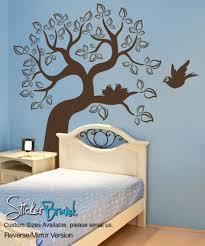 vinyl wall decal sticker bird and tree os es102