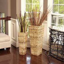 household essentials 35 in x 14 in water hyacinth nested wicker