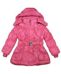 girls wet look detach hood padded jacket kids quilted winter coat