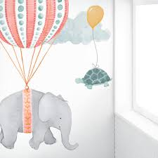 Animal Wall Decals For Nursery by Soaring Friends Air Balloon Fabric Wall Decal U2022 Pink Mejmej