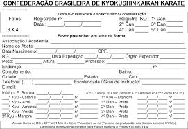 Conhecido Ficha - Karate - @TI22