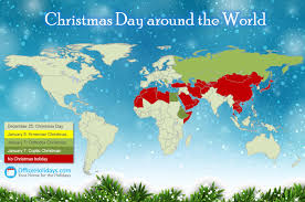 christmas day around the world office holidays
