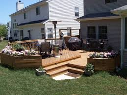 multi level deck with flower boxes u2013 outdoor living with archadeck