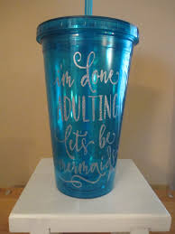 done adulting mermaid glitter blue tumbler cup gift home decor