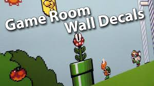 adding game room wall decals super mario world theme youtube