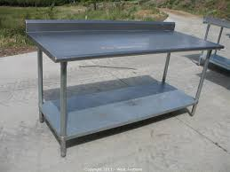furniture stainless steel prep table with bench top butcher block