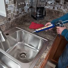 how to recaulk kitchen sink caulking around kitchen sink round designs