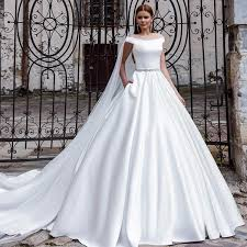modern wedding dress discount 2016 modern satin wedding dress a line the