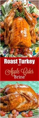 roast turkey with apple cider brine flavor mosaic