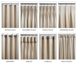 Types Of Curtains Decorating Helpful Image For Picking Which Type Of Pleat Is Your Style