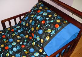outer space planets baby toddler bedding fitted sheet with