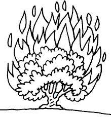 burning bush jewish coloring pinterest burning bush sunday