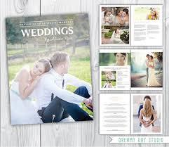 wedding magazine template wedding photography magazine template 8 pages wedding