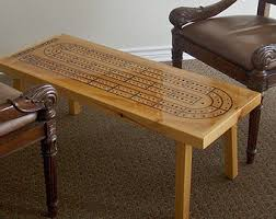 game table cribbage board cribbage table early american
