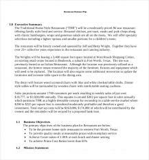 catering business plan business ratios 7 0 financial plan page