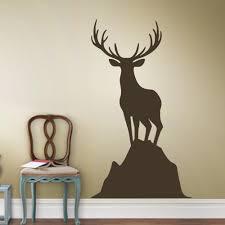 Deer Wall Decor Aliexpress Com Buy Elk Deer Vinyl Wall Decal Caribou Standing On