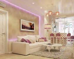 luxury living room with cozy white sofa soft rug round coffe table