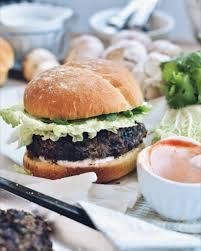 cuisine coriandre hamburger végé haricots noirs chignons grillés et coriandre