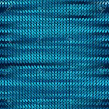 Blau Schwarz Muster Stil Nahtlose Gestrickte Melange Muster Blau Schwarz Farbe Vektor