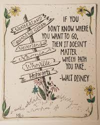 print walt disney quote deco ink illustration in