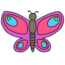 butterfly clipart cute cartoon pencil and in color butterfly