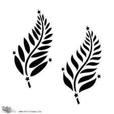 tattoo of silver fern southern cross tattoo custom tattoo
