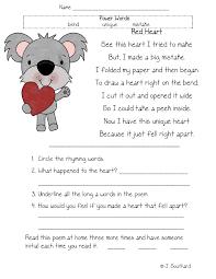 reading comprehension worksheets first grade worksheets