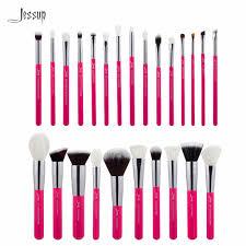 jessup rose carmin silver professional makeup brushes set make up
