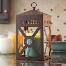candle warmers etc 12 3 in rustic brown mission candle warmer