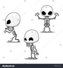 halloween dancing skeleton halloween character set cute skeleton cartoon stock vector