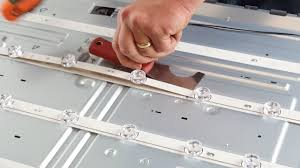 replacing led lights in tv how to replace led strips in lg led tv 55lf 55lb nc55 fixing bad