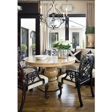 dining rooms mushroom linen curved bench round pedestal di