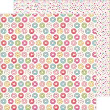 donut wrapping paper doodlebug design and sugar donut shoppe paper