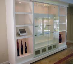 Wall Mounted Cabinet With Glass Doors Wall Units Astounding Glass Wall Units Metal And Glass Wall Units