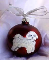 bichon frise tiny ones ornament ornaments